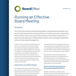Training Nonprofit Board Members In How To Run An Effective Board Meeting